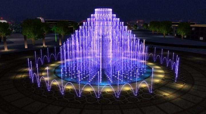 北京广场喷泉北京音乐喷泉北京水景喷泉图片