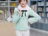 秋冬新款韩版女装毛呢短外套长袖毛领百搭韩版短款呢子大衣女