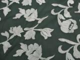 现货供应 胚布 欧根纱绣花 玻璃纱 印花面料 面料印花G2008