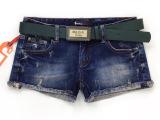 V-MTX威度2014秋装新款深蓝牛仔短裤女韩版潮显瘦卷边热裤1