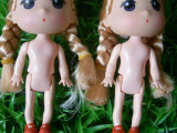 12CM高档迷糊娃娃 芭比蛋糕烘焙专用裸娃 玩具配件 花束公仔