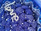 漂亮的蓝色妖姬,第一次亲手做出来的,好喜欢