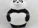 玩具厂家定制黑白吉祥物动物熊猫 大号熊猫毛绒娃娃 企业公仔打样