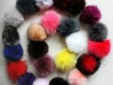 供应兔毛球,彩色图毛球,兔毛围脖等兔毛产品