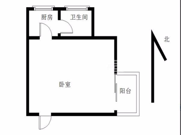 政务区 天鹅湖 奥体中心 中等装修一居室 家具家电齐全随时看