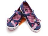 【大额批发】江苏贝贝女童鞋浅口系列魔术贴套脚帆布鞋
