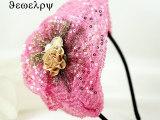 韩版时尚亮片空姐贝雷帽子发箍水晶花朵发饰头饰品批发 厂家直销