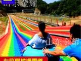抖音热门彩虹滑道项目 七彩塑料滑道 极速旱地滑雪滑道规划设计