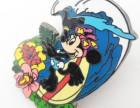 迪士尼卡通徽章定制香港迪士尼珐琅徽章生产厂家直销