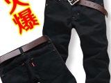 2014男装黑色直筒男士牛仔裤男休闲牛仔长裤男韩版潮大码
