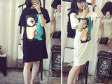 2015韩国东大门 卡通复仇者联盟中长款T恤 连衣裙    A3