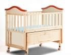 富贵宝贝儿童床哄睡摇篮床多功能婴儿床实木摇床