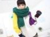 韩版秋冬新款可爱女生撞色连帽上衣加绒外套卫衣