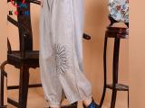 2015夏装新款 棉麻女装灯笼裤 民族风大码女裤 松紧腰女式休闲