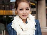 纯色流苏脖套 韩国秋冬天女士围巾毛线围脖 保暖针织套头 围脖
