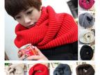 2014韩版秋冬新款 绕两圈围脖套头围巾 多用毛线大围脖批发