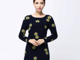 2014秋冬新品女装 时尚女式中长款貂绒衫毛衣  韩版修身针织衫