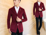 2014新款男装男士中长款毛呢大衣韩版时尚修身风衣纯色外套青年潮