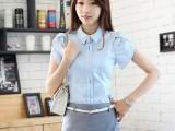 2014新款女装职业工作时尚夏装韩版衬衫纯棉半身裙气质淑女套裙