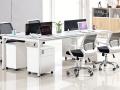 重庆办公家具钢架屏风员工桌4人位 简约现代 职员卡座办公桌