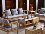 新中式禅意沙发 实木沙发 原木家具批发 有现货