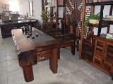 老船木小茶桌椅组合实木客厅茶几简约中式户外旧船木阳台功夫茶台