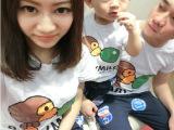 2014新款夏季亲子装一家三口亲子半袖爸爸妈妈T恤全家童装短袖