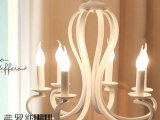 简欧美式吊灯 北欧宜家田园新古典水晶灯具 卧室客餐厅铁艺灯饰
