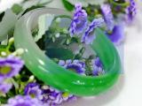 天然A级新坑翡翠玉镯手镯冰透半绿半白天然玉石厂家女特价直销