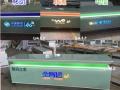 新款木纹树脂不锈钢华为发光字手机柜台 三星小米展示柜业务受理