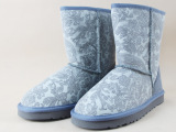 5825雪地靴女真皮女鞋印花短筒外贸雪地靴批发 厂家直销