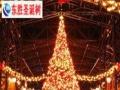 张家口大型圣诞树厂 户外真树缠彩灯串灯幕墙灯饰画
