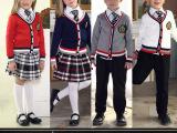 英伦学院派幼儿园园服长袖毛衣小学生校服合唱服演出服男女套装