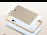 小米4手机壳M4航空铝带PVC背板金属壳保护套外壳热销边框
