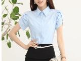 韩版白衬衫简约OL女装夏装新款短袖宽松韩版潮女士衬衫职业半袖