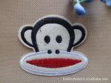 【现货批发】卡通大嘴猴布贴  刺绣补贴 DIY 帽子布贴  书包