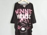 外贸原单女式短袖t恤 夏季 大牌原单 蝙蝠袖撞色字母t恤 全棉t