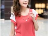 2014新款女装韩版上衣宽松短袖雪纺衫 女蝙蝠袖雪纺衫