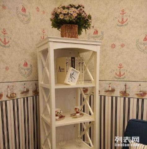 出售田园欧式全新书架置物架下有抽屉可放各种物品