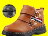 2014冬季新款爆款儿童棉鞋男童韩版真皮加绒保暖童鞋批发一件待发