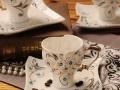 厂家直销欧式咖啡杯子 陶瓷咖啡杯碟 镶钻茶具