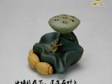 【禅乐】批发 宜兴紫砂壶紫砂茶宠茶玩摆件礼物礼品盖托 莲蛙