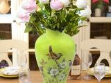 陶瓷花瓶 创意欧式花鸟仿古家居装饰品工艺品摆件 礼品 厂家批发