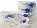 礼品碗 青花瓷 碗勺套装 米饭陶瓷 礼品 餐具套装 LOGO定制
