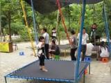 广场折叠钢架蹦极儿童蹦蹦床景区小型游乐设备