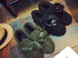 秋冬新款女鞋皮毛一体雪地靴短筒包子鞋平底