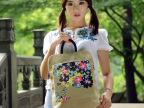 高档品牌2014新款帆布女包学院中国风女士双肩包书包背包特价c01