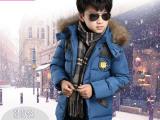 儿童装2014新款韩版大男童羽绒服中长款外套冬10-12加厚13