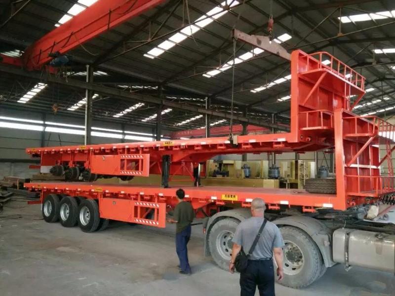 挖掘机运输车 勾机板半挂车 低平板半挂车
