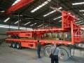 低平板 勾机板半挂车 挖掘机运输车 拖板